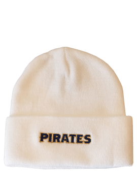 Adidas Pirates Text Beanie- White