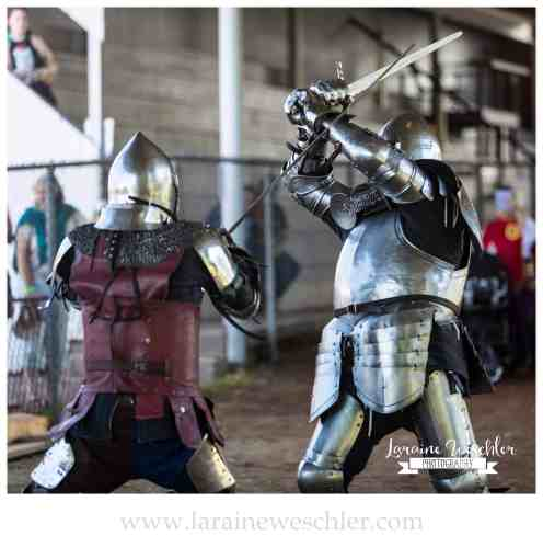 knights in armor fighting