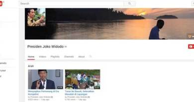 Akun YouTube Jokowi