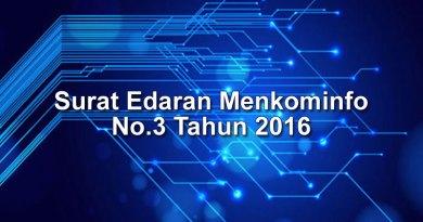 Surat Edaran Menkominfo No.3 Tahun 2016