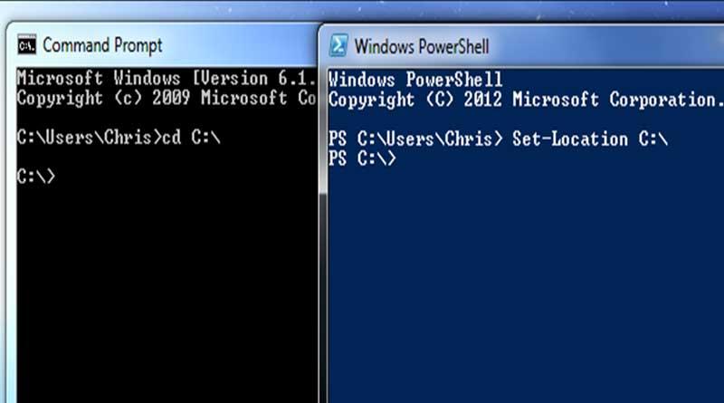 Windows PowerShell Gantikan Command Prompt