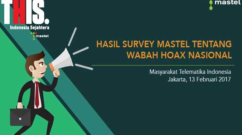 Infografis Hasil Survey MASTEL Tentang Wabah HOAX Nasional