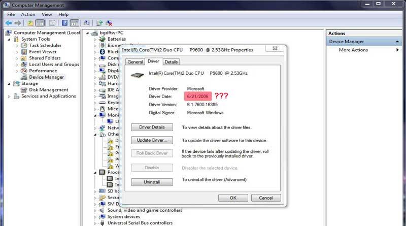 Alasan Kenapa Drivers Pada Windows Tanggalnya Selalu 21 Juni 2006
