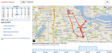 Google Map History