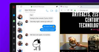 Akses Langsung WhatsApp, Facebook Messenger dan Telegram di Opera Browser
