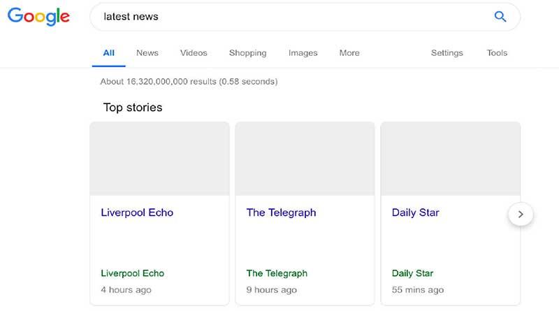 Tampilan Google Search Dibawah Undang-Undang Hak Cipta Uni Eropa