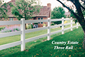 Country Estate Three Rail