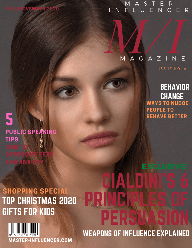 Cover page of Master Influencer Magazine Fall/November 2020 Issue No. 4