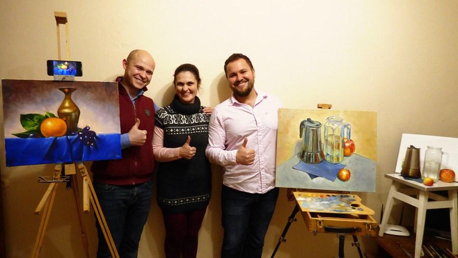 мастер класс маслом в Киеве