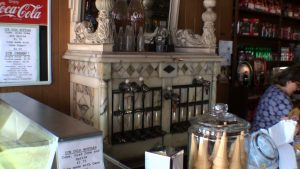 Old original marble soda fountain