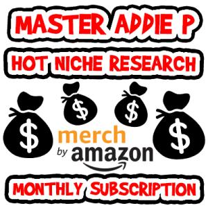 Master Addie P Niche List Monthly Subscription