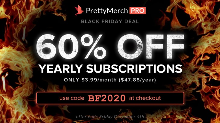 Pretty Merch Black Friday 2020 Discount Deal Coupon Code