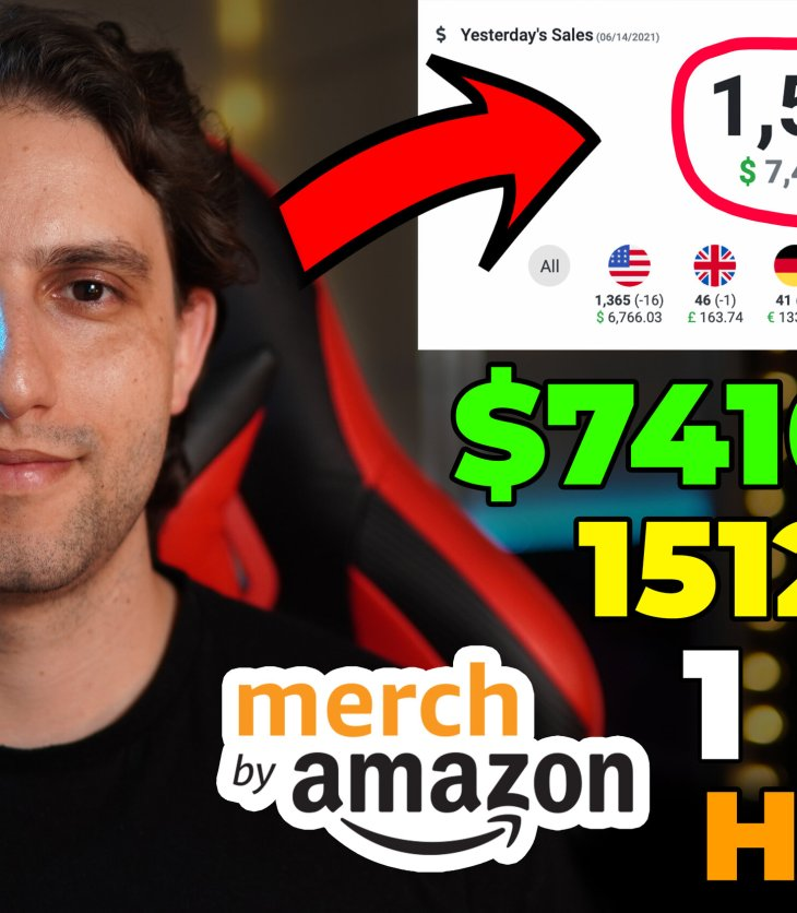 How We Did $7,410 Royalties And 1,510 Sales With Merch By Amazon Print On Demand In 1 Day?