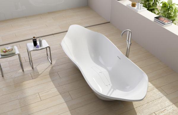 Күрделі геометриялық пішінді акрилді ванна