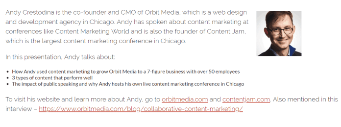 Andy Crestodina from Orbit Media