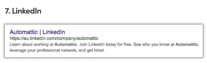 LinkedIn Meta Description
