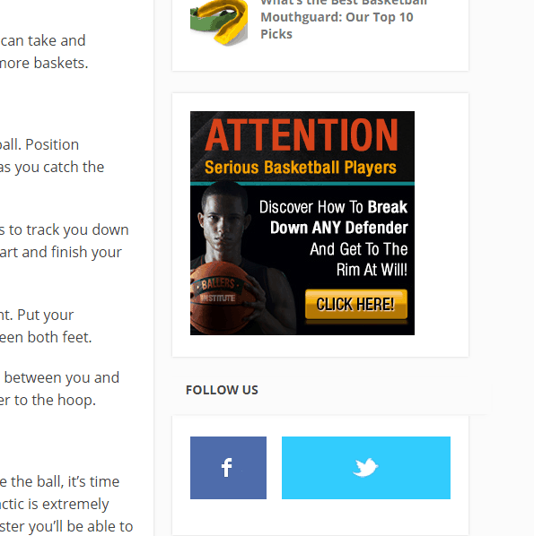 Ads Above The Fold Example
