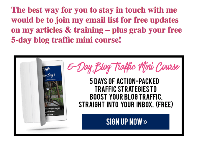 RaelynTan Blog Traffic Mini Course