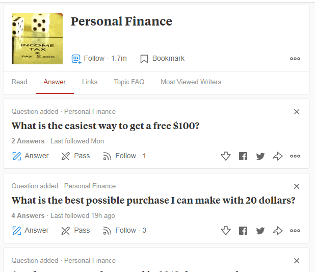 Find Questions on Quora
