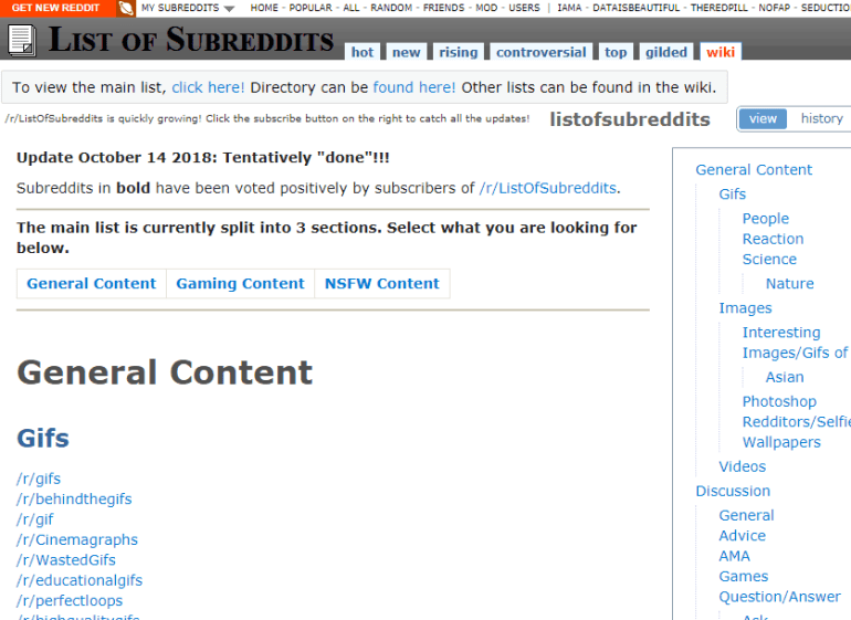 find subreddits related to your niche