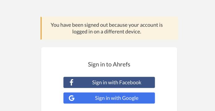 ahrefs device limit