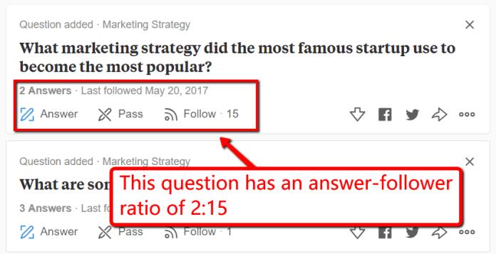 answer follower ratio