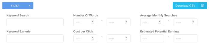 KeywordRevealer Filters