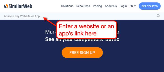 SimilarWeb Start Page