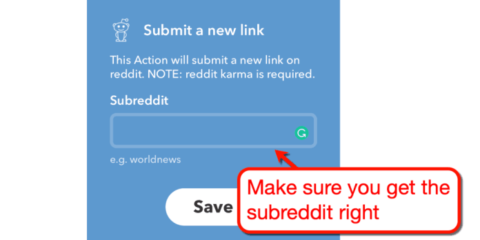 Submit a New Link to Subreddit