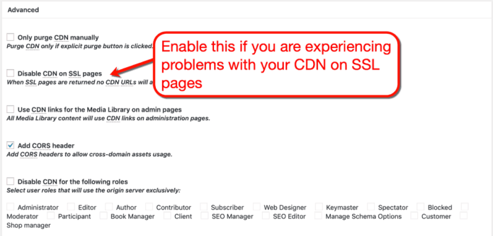 How to Disable CDN on SSL Pages