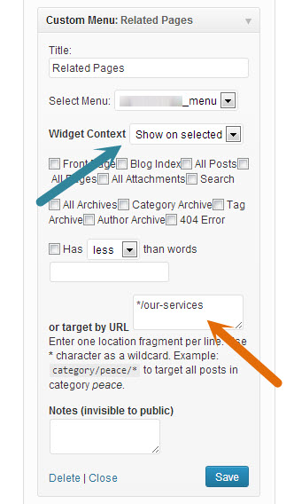 Show or Hide Widget on Specific Page