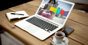 wordpress website theme preview on macbook