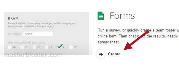 create order form