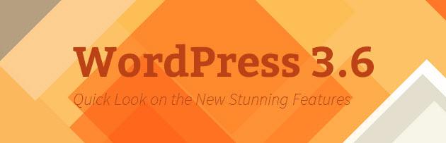 wordpress 3.6 features