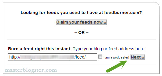 setup feedburner for WordPress