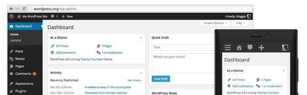 responsive wordpress admin panel