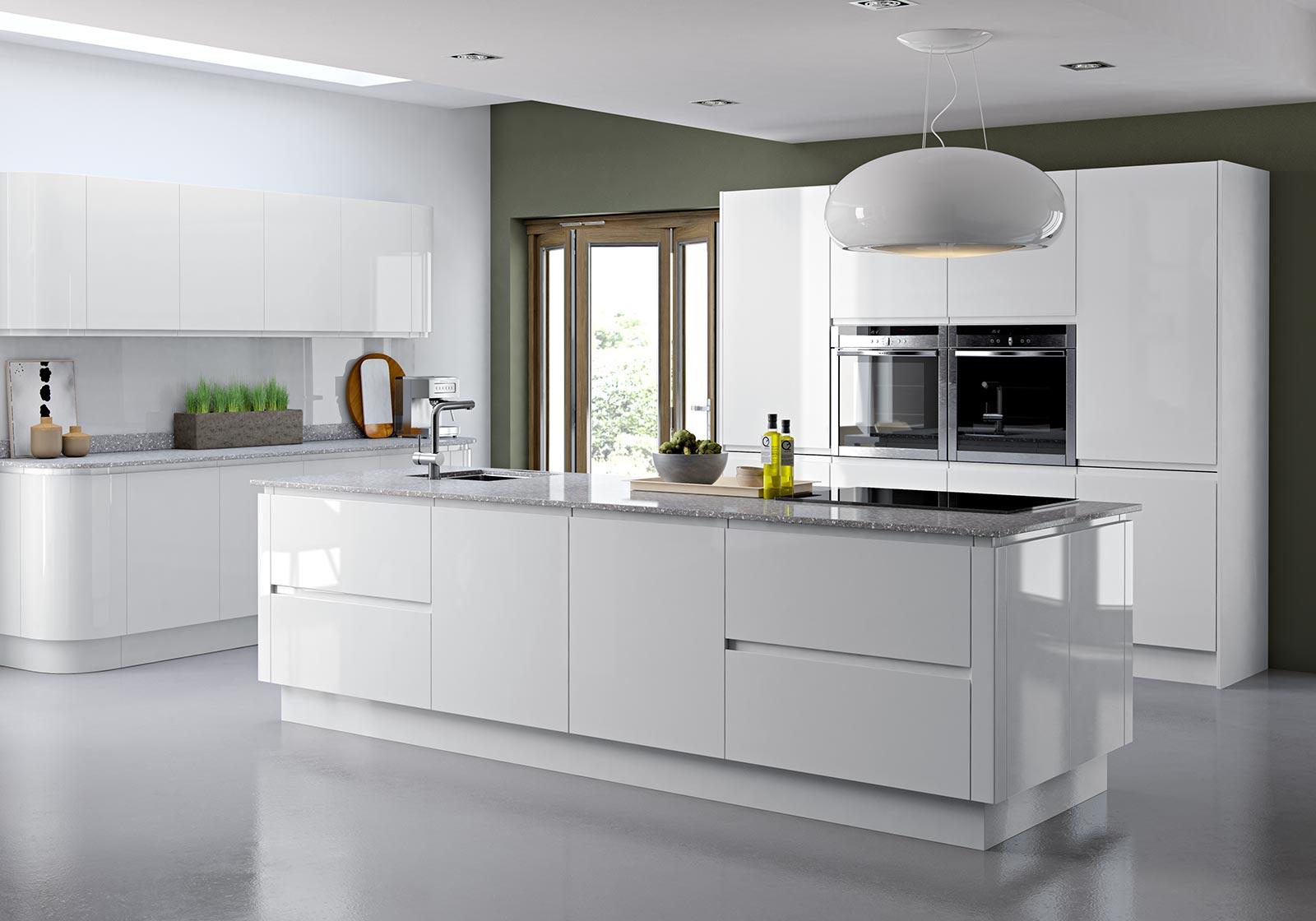 Modern White Gloss Kitchen Ideas   Novocom.top