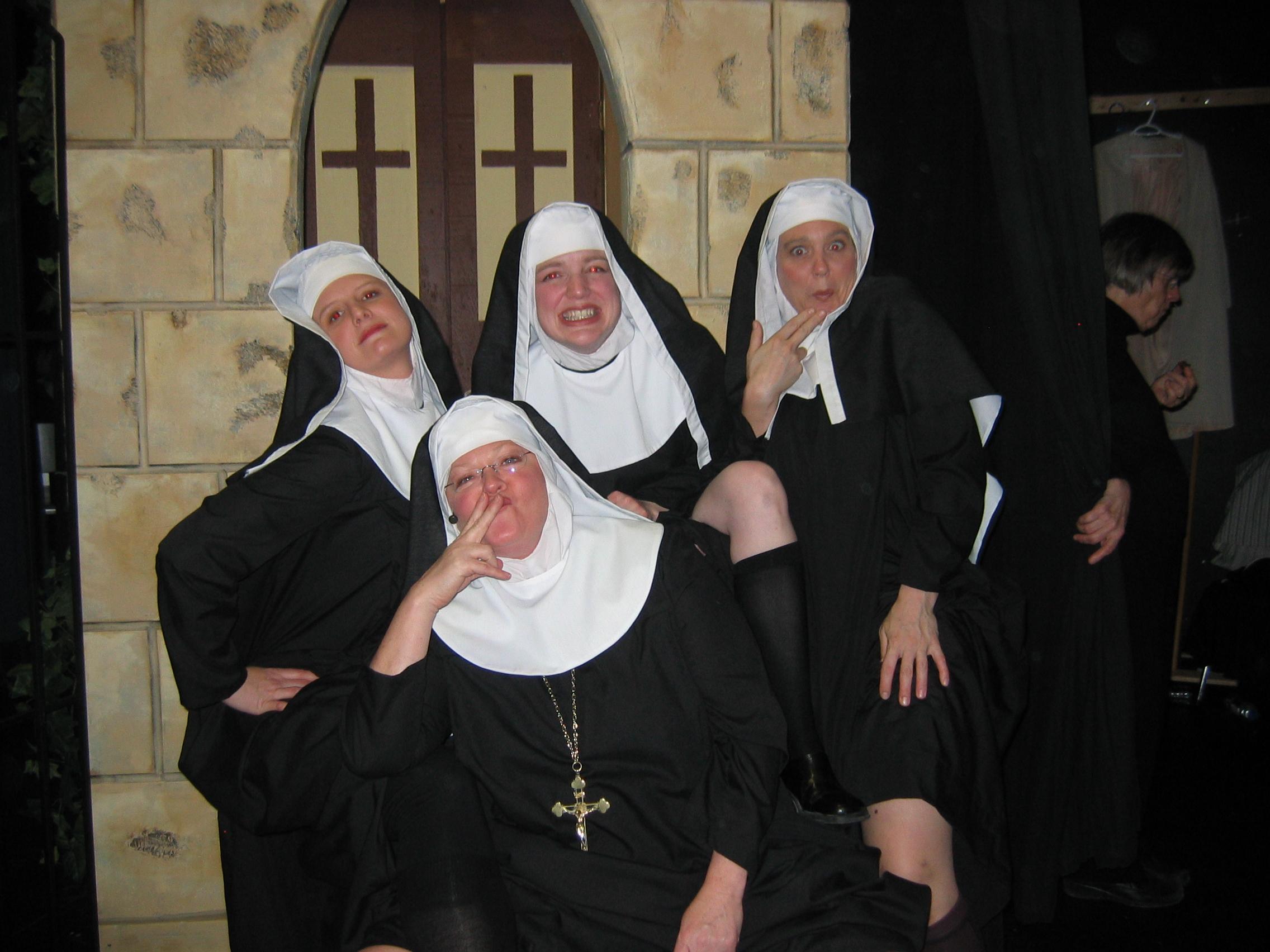 Sister Margaretta, Sister Berthe, Sister Sophia and Mother Abbess