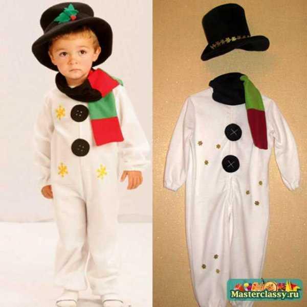 Новогодний костюм для мальчика Снеговик. Мастер класс