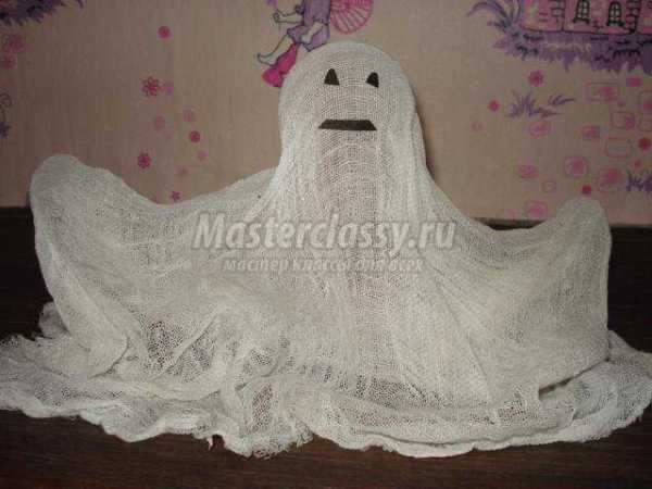 Поделка на Хэллоуин. Привидение из марли. Мастер-класс с ...