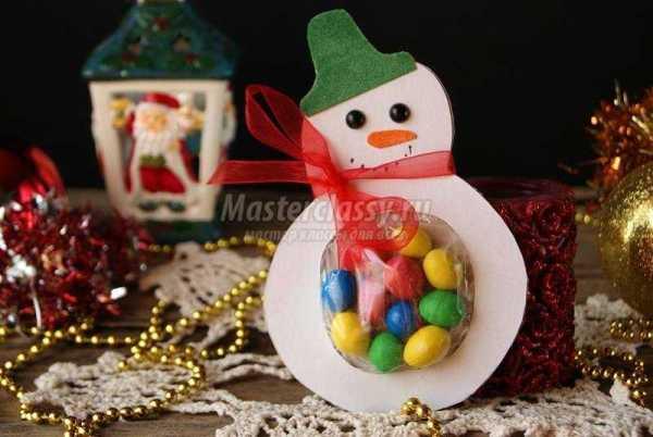 Необычная упаковка для сладостей на Новый год – Снеговик ...