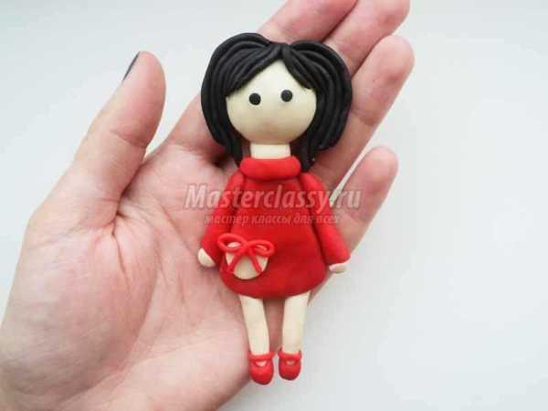 Как сделать куклу из пластилина? Девочка из пластилина ...
