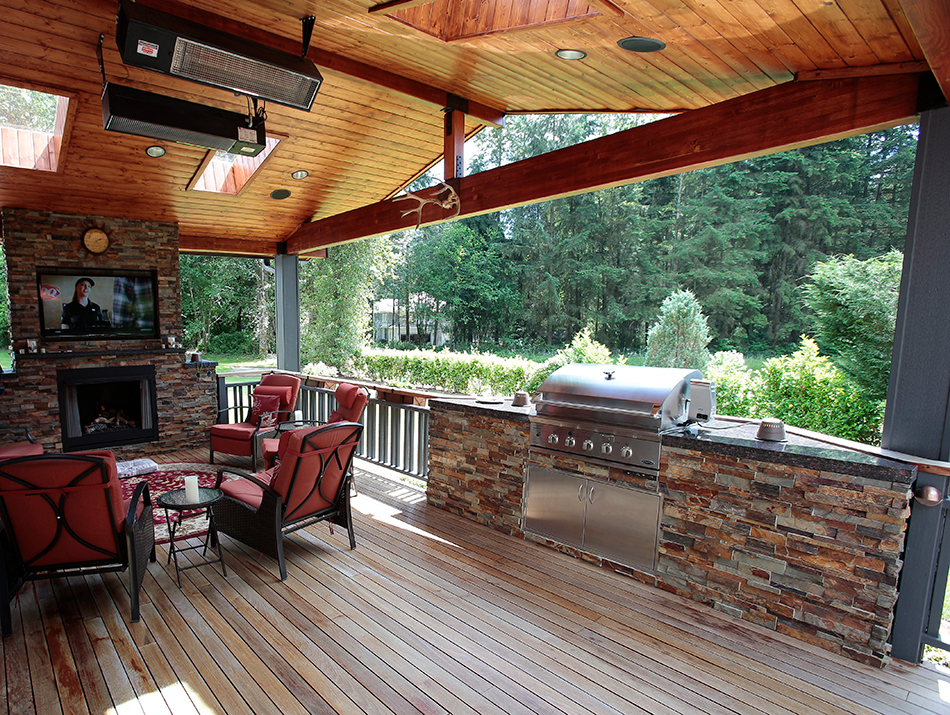 Outdoor Kitchens & Fireplaces - Master Decks on Covered Outdoor Kitchen With Fireplace id=72723
