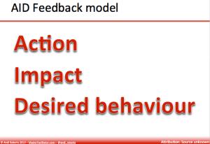 Aid feedback model