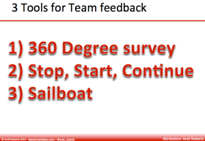 3 Tools for team feedback