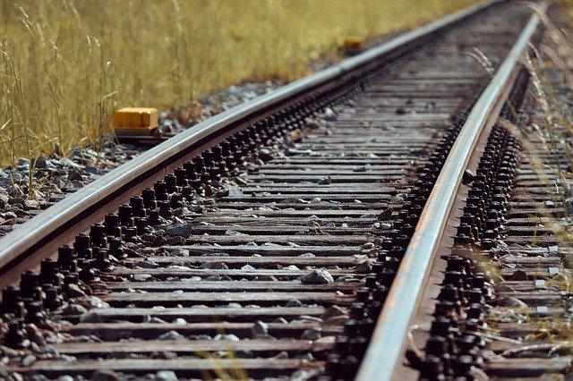 Gravel Stones Transferred On Rail Track