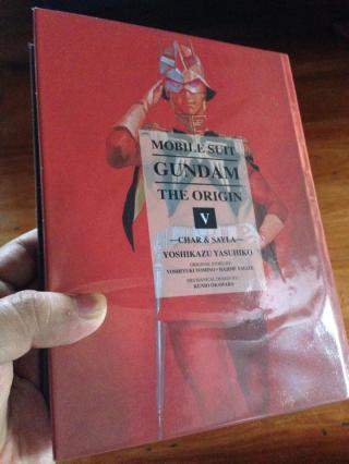 A close up of the Gundam: The Origin cover. This was the first one I bought, because Char