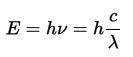 光のエネルギー波長依存性
