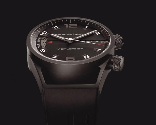 Porsche Design Worldtimer P'6750 watch in black pvd titanium