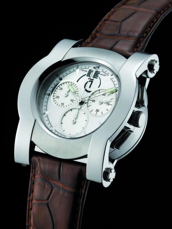 Enila Round Reversible Chronograph watch